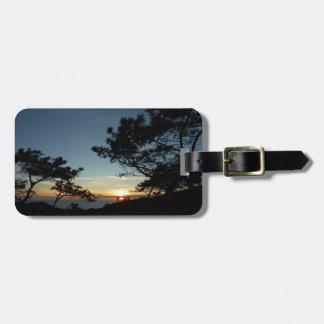 Torrey Pine Sunset III California Landscape Luggage Tag