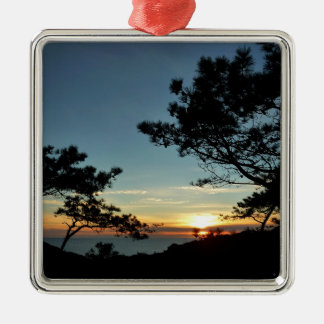 Torrey Pine Sunset III California Landscape Metal Ornament