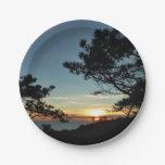 Torrey Pine Sunset III California Landscape Paper Plate