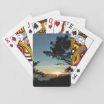 Torrey Pine Sunset III California Landscape Playing Cards