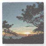 Torrey Pine Sunset III California Landscape Stone Coaster