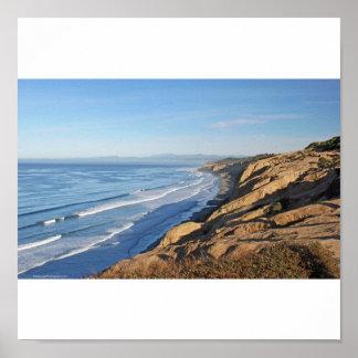Torrey Pines viewing Blacks Beach north to Oceansi Poster