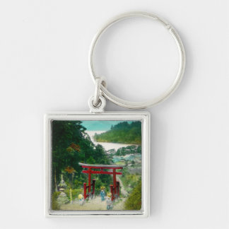 Torri Above Lake Ashi 芦ノ湖 Japan Vintage Keychain