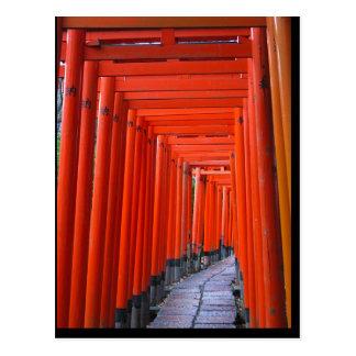 Torri at Fushimi Inari Shrine Postcard
