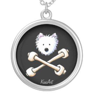 Torrid Westie Crossbones Necklace necklace
