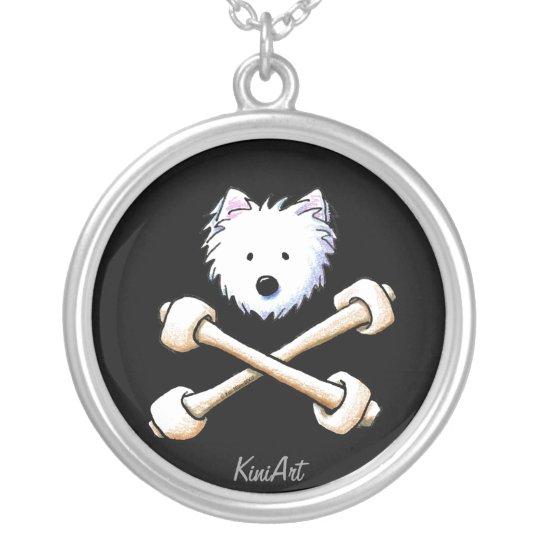 Torrid Westie Crossbones Necklace