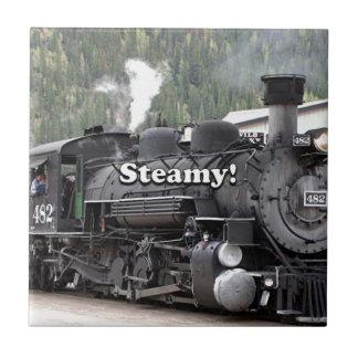 Tórrido!: motor del tren del vapor, Colorado, los Azulejo Cuadrado Pequeño