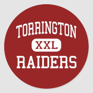 Torrington - asaltantes entrenados para la lucha pegatina redonda