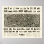 Torrington, CT Panoramic Map - 1909 Poster