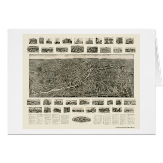 Torrington, mapa panorámico del CT - 1909 Tarjeta De Felicitación