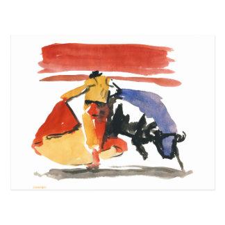 torro y torrero tarjetas postales