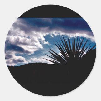 Torry yucca round sticker