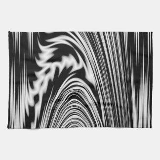 Torsión abstracta blanco y negro toalla de mano
