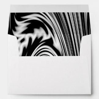 Torsión abstracta blanco y negro sobres