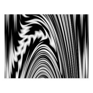 Torsión abstracta blanco y negro tarjeta postal