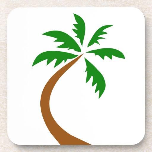 torsión curvada palmera del coco posavaso