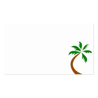 torsión curvada palmera del coco tarjetas de visita