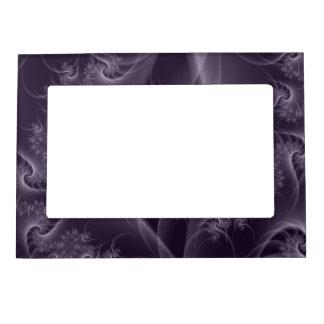 Torsión de la púrpura y del blanco marcos magneticos de fotos
