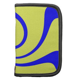 Torsión del azul y del amarillo planificador