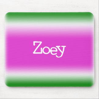 Torsión del chicloso: Zoey Alfombrilla De Ratones