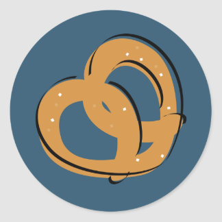Torsión del pretzel pegatina redonda