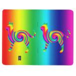 Torsión formada gato del arco iris cuadernos grapados