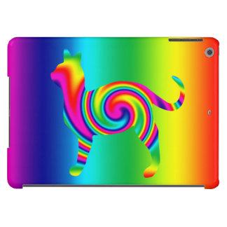 Torsión formada gato del arco iris funda para iPad air