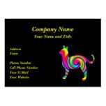 Torsión formada gato del arco iris plantilla de tarjeta personal