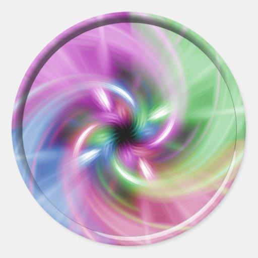 Torsión multi pegatina redonda