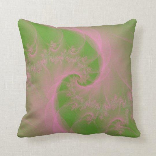 Torsión rosada en las almohadas verdes cojín decorativo
