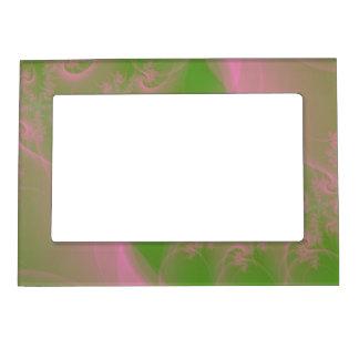Torsión rosada en verde marcos magneticos