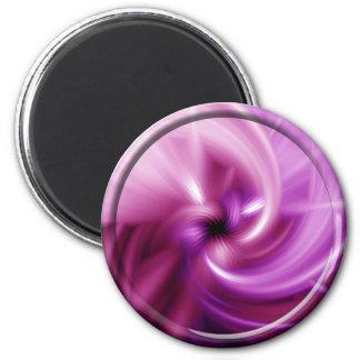 Torsión rosada imán redondo 5 cm