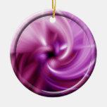 Torsión rosada ornamento de navidad