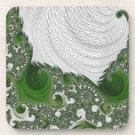 Torsiones blancas y verdes magníficas del fractal