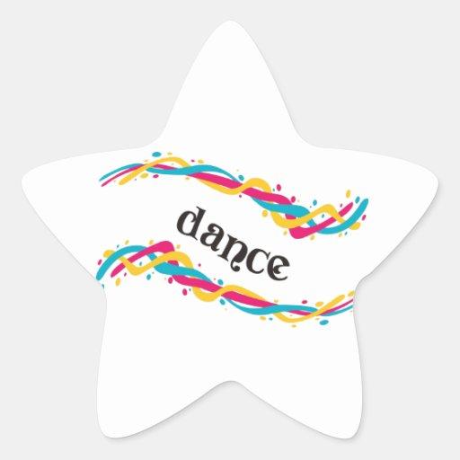 Torsiones de la danza colcomanias forma de estrellaes