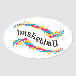 Torsiones del baloncesto calcomanía ovaladas personalizadas