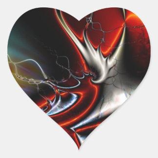 Torsiones del extracto de colores pegatina en forma de corazón