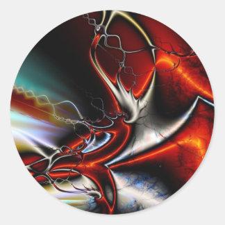 Torsiones del extracto de colores pegatina redonda