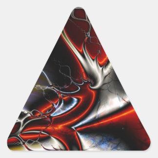 Torsiones del extracto de colores pegatina triangular