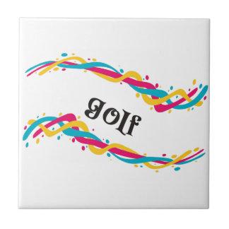 Torsiones del golf azulejo cuadrado pequeño