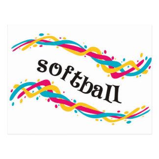 Torsiones del softball tarjeta postal