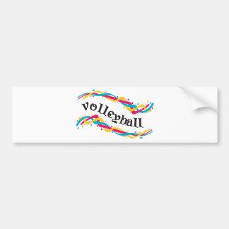 Torsiones del voleibol etiqueta de parachoque
