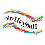 Torsiones del voleibol tarjeta postal