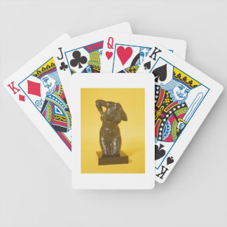 Torso (bronze) bicycle playing cards