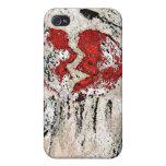 Torso con el corazón quebrado iPhone 4 protectores