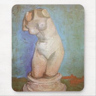 Torso femenino de la figurilla del yeso de Vincent Tapetes De Raton