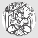 Torso maya pegatina redonda