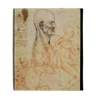 Torso of a Man in Profile, the Head Squared for Pr iPad Folio Cover