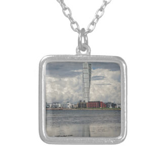 torso silver plated necklace