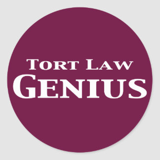 Tort Law Genius Gifts Classic Round Sticker